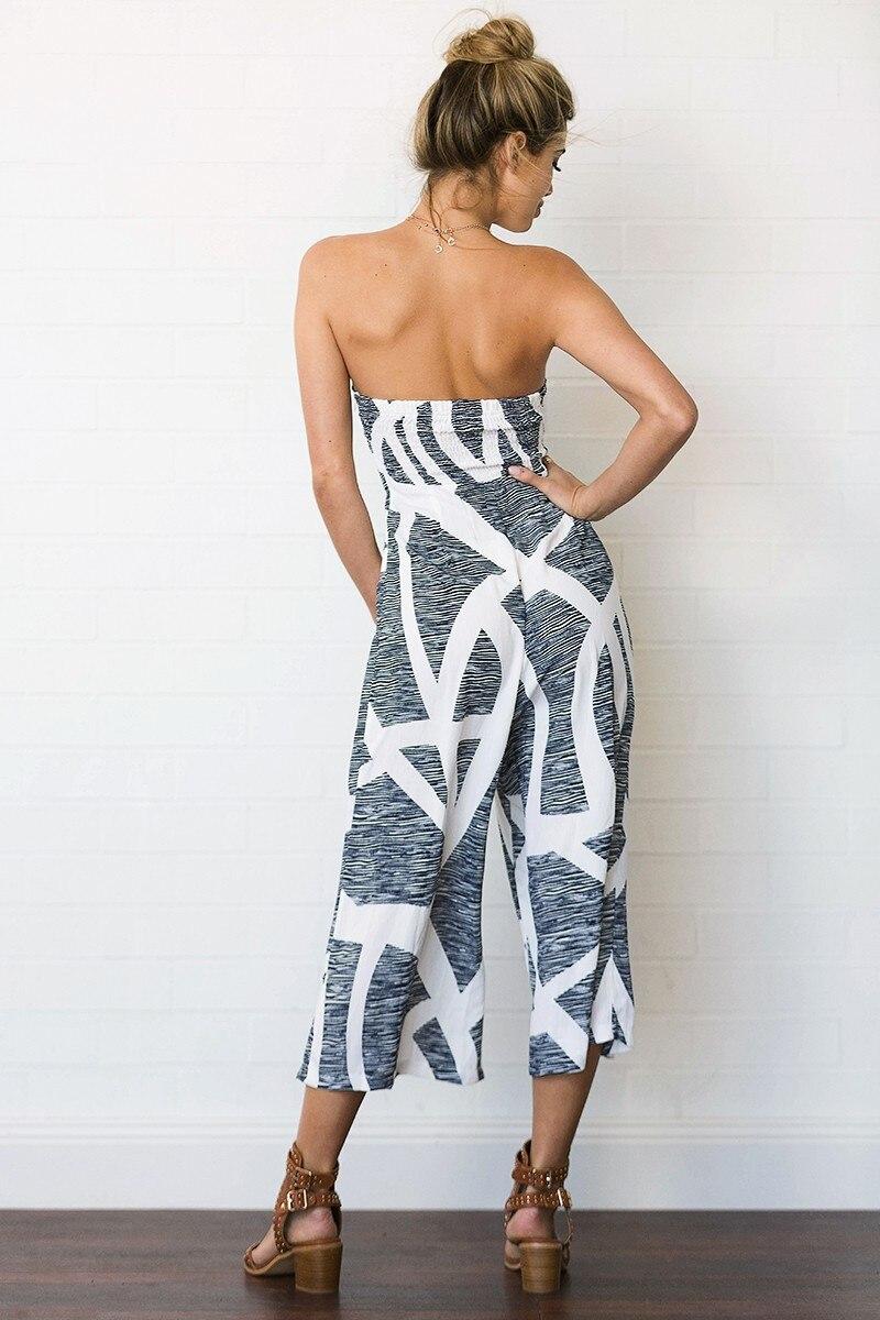 Summer New Grey Women Jumpsuits Sexy Wrap Digital Print Jumpsuits Street Fashion Lady Chiffon Ankle-Length Pants Jumpsuits