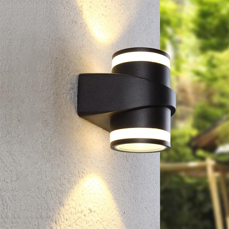 Бесплатная доставка 10 W COB светодиодный настенный светильник IP65 Современный стильный алюминиевый регулируемый светильник наружный настенн...