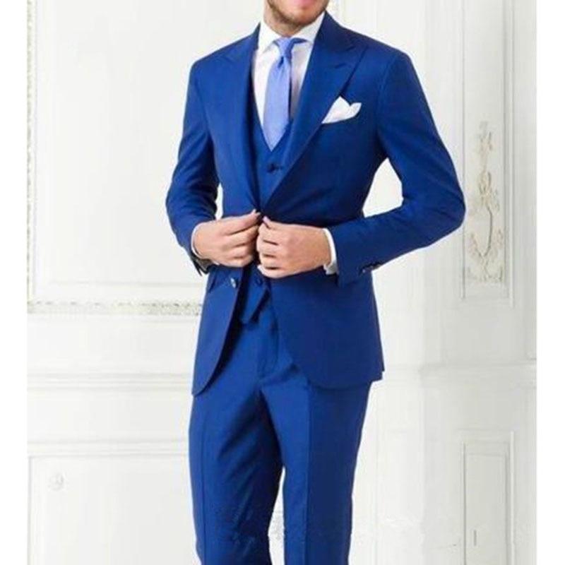 Negocio Ternos De Los Chaleco The Traje Homme Image 2018 Th Pantalones As  Hombres Mens Azul Masculinos as Boda chaqueta Para ... bc458f42b83