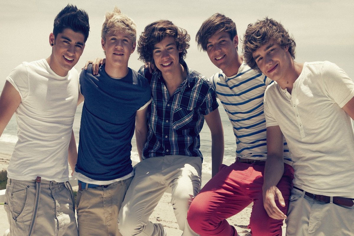 one direction music band members singers wallpaper living room decor home wall art decor wood frame fabric posters KF077