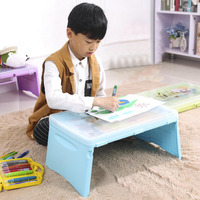 SUFEILE Children S Folding Computer Desk Plastic Storage Table Laptop Bed Writing Desk Bedroom Essential Artifact
