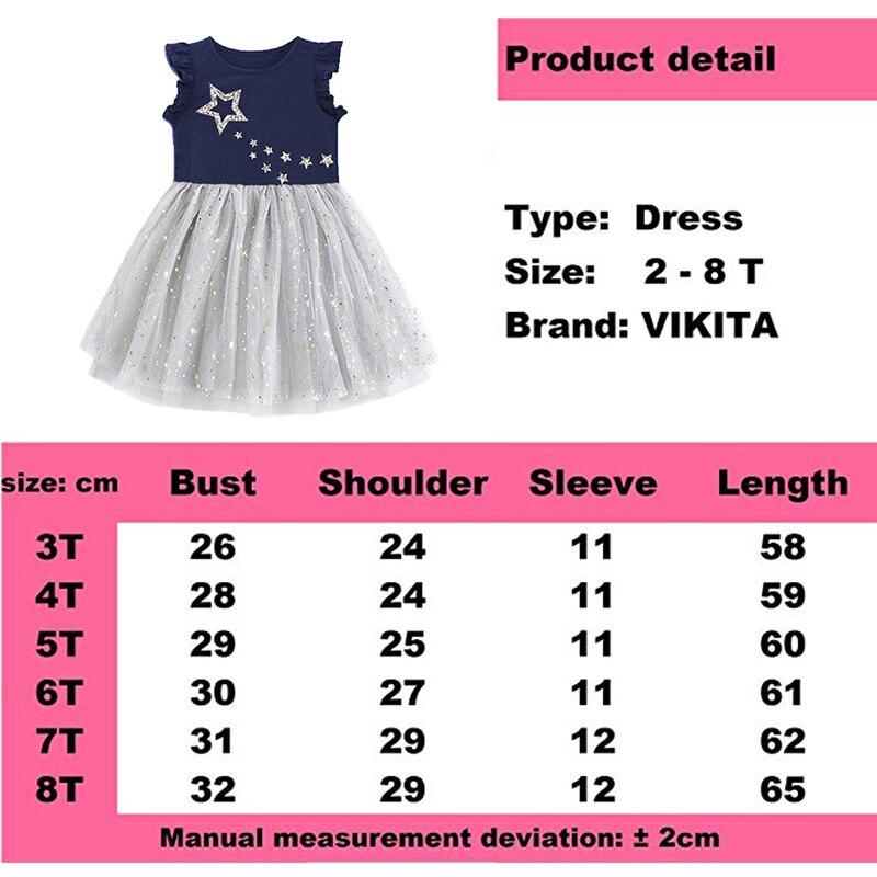 Купить с кэшбэком VIKITA Girls Princess Dress Kids Unicorn Dresses for Girls Children Sequins Dresses Toddlers Tutu Dress Girl Summer Vestidos
