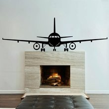 Airplane Jumbo Jet Vinyl Art Removable Poster Mural Large Wall Sticker Beauty Fashion Bedroom Decoration Decals W124