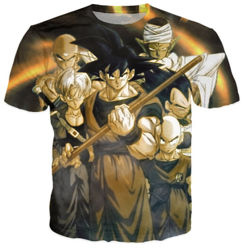 Summer Style Cartoon <font><b>T</b></font> <font><b>Shirt</b></font> Men/Women Anime Goku <font><b>Dragon</b></font> <font><b>Ball</b></font> 3d <font><b>T</b></font> <font><b>Shirt</b></font> Unisex Casual Hip Hop Harajuku Plus Size <font><b>5XL</b></font> image