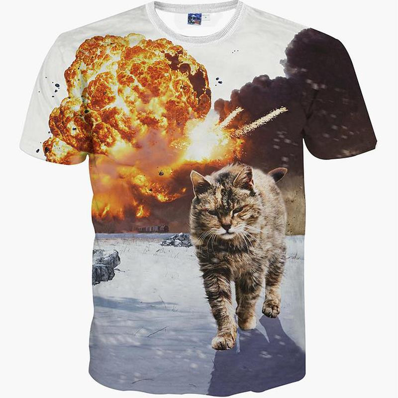 2017 Mr.1991INC&Miss.GO New Fashion Men/Women T-shirt Summer Tops Short Sleeve cat 3d Print T-shirt Space galaxy T shirt Cartoon