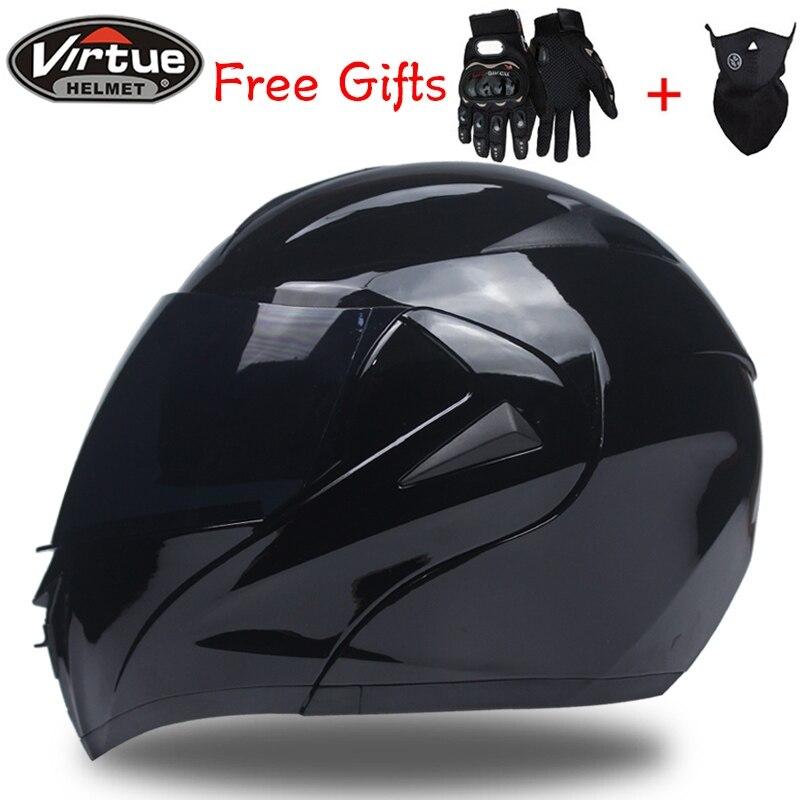 DOT Flip Up Motorcycle helmet Tourbike helmet Modular helmet dual visor system full face helmet