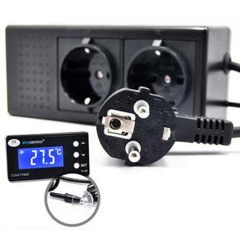 Waterproof sensor Digital Aquarium Thermostat Cool Heat with EU UK AU plug
