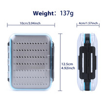 Maxcatch 2 Pieces Fly Fishing Box Double Side Design Open Waterproof Fly Box Small Portable Fishing Tackle Box