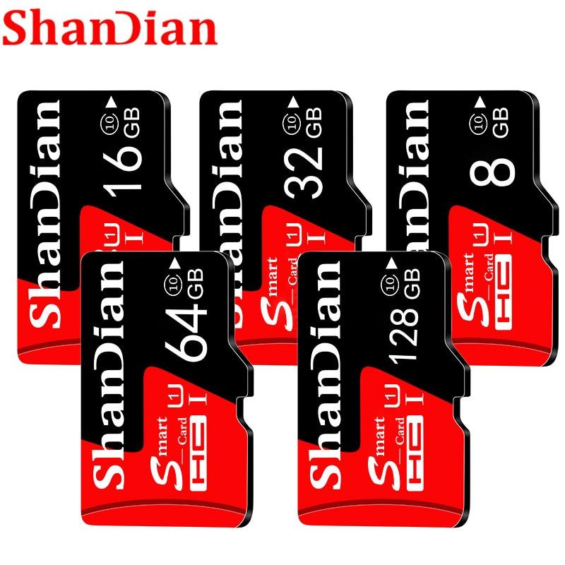 SHANDIAN Quality Assurance C10 32GB Micro Sd Memory Card C10 8GB 16GB 32GB 64GB Micro SD Card 128GB Usb Stick Pen Drive TF Card