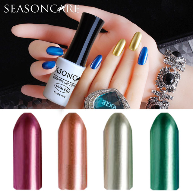 SEASONCARE GelPolish metal Pearl fragrance Color For Long-lasting Nail Art Manicure Soak-off UV Led Gel Polish