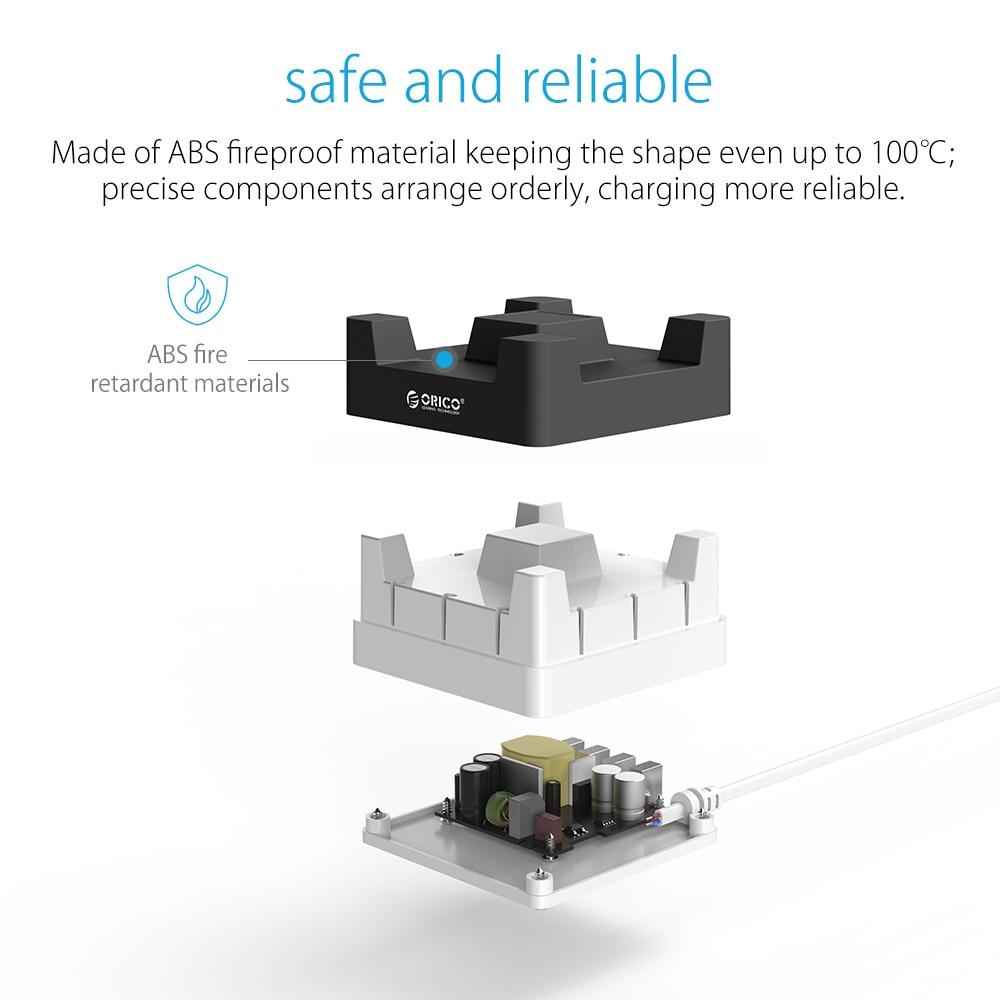 ORICO Cargador USB de escritorio de 4 puertos con soporte para - Accesorios y repuestos para celulares - foto 3