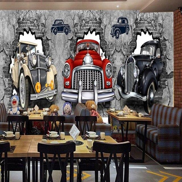 Papier Peint 3d Personnalisé Rétro Nostalgique Style Industriel Mur