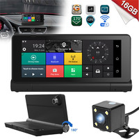 KROAK 7 Inch Android 5 1 WiFi Dashboard Car DVR Rearview Mirror Dash Cam Driving Recorder