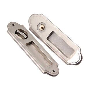 Image 2 - Movable Sliding Door Lock Handle Locks Keyed Privacy Door Security Door Lock