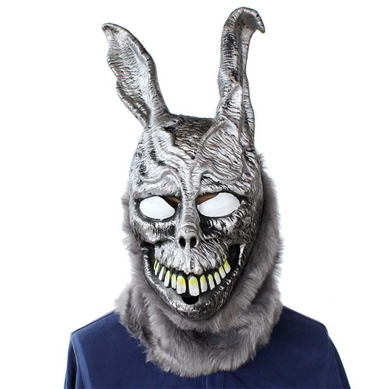 Adult Angry Cartoon Rabbit mask Latex Donnie Darko FRANK the Bunny Costume Cosplay Halloween Overhead Party Maks Supplies