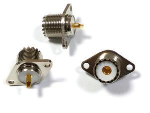 Image 4 - 20 個真鍮 uhf SO239 女性 2 穴フランジはんだパネルマウントアダプタ