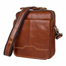 New Products First Layer Cow Leather Bag Simple Style Flap Bag Cross Body Bag Shoulder Bag For Business Men 1018B