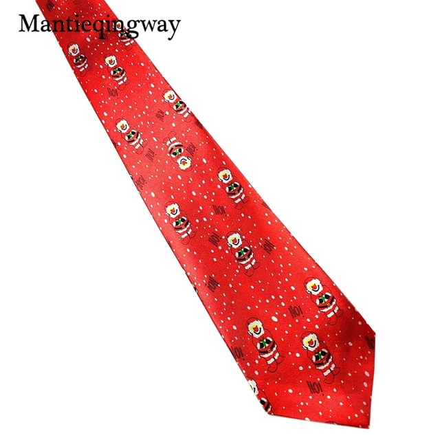 ad0a9f60a62d Mantieqingway Brand Mens One-time Christmas Ties Cravats Business Polyester  Tie Formal Suits Neckties Wedding Skinny Neck Tie