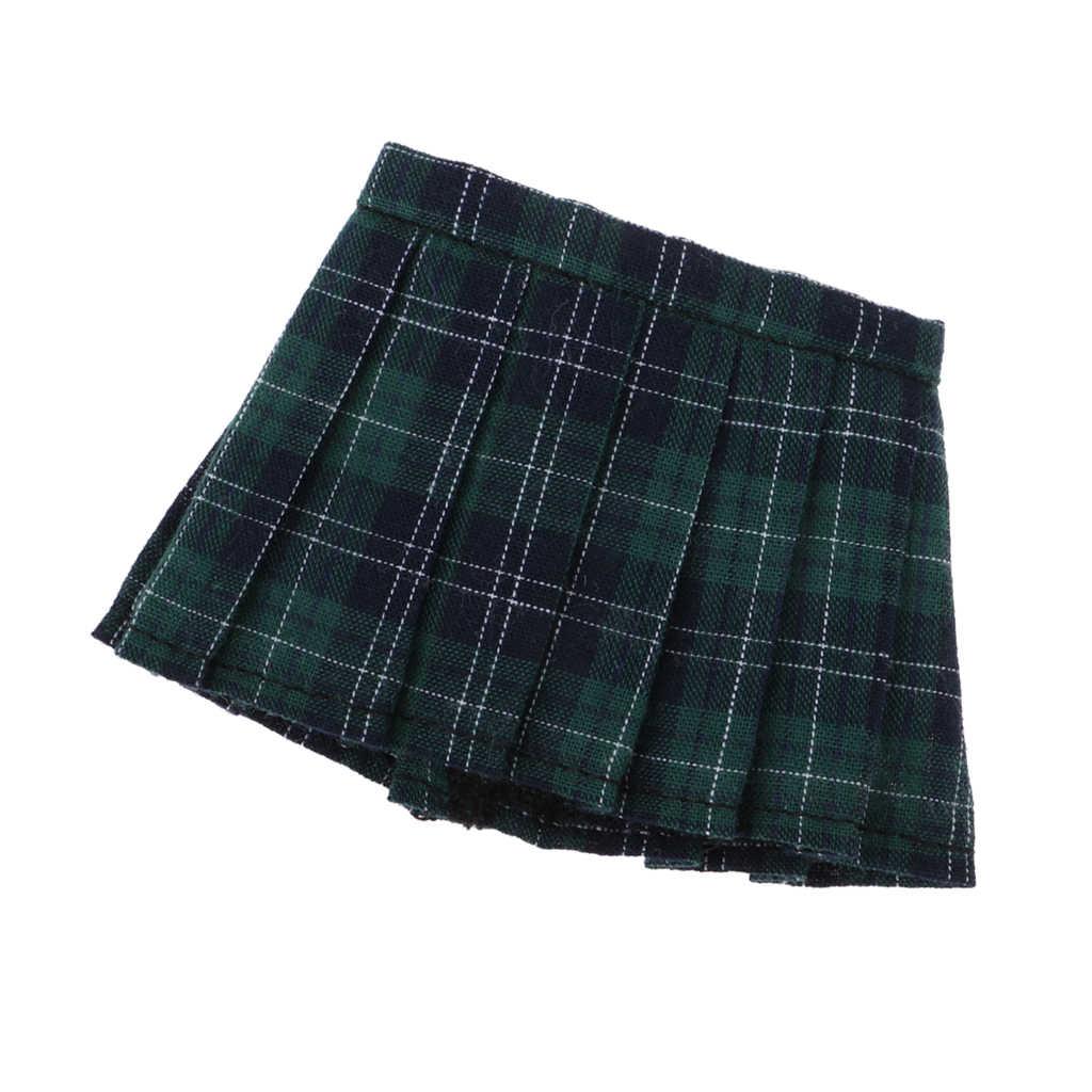 Школьный стиль 1/6 BJD плиссированная юбка школьная форма для японской средней школы одежда для MSD DOC dz-кукла вечерние/Повседневные платья зеленого цвета в клетку
