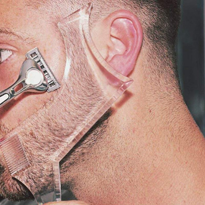 BellyLady Men Beard Shaping Styling Template Comb Men's Beards Combs Beauty Tool for Hair Beard Trim Templates