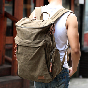 Image 5 - Muzee Brand Vintage backpack Large Capacity men Male Luggage bag canvas travel bags Top quality travel duffle bag
