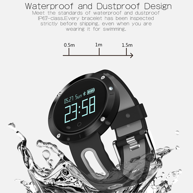 Torntisc T1 Bluetooth Sports Heart Rate Smart Band with Blood Pressure Monitor IP67 Waterproof Wristband for iOS Android Phones
