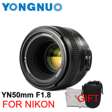 NEW YONGNUO YN 50mm F1.8 AF/MF Large Aperture Auto Focus Lens UV Filter Size 58mm For Nikon SLR cameras VS YN50mm f1.8 For Canon