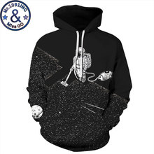 Space Galaxy Astronaut Print Oversized Hoodie Sweatshirt Men/Women 3D Hoodies Sweatshirts Men Hiphop Streetwear Hoody Hooded Top