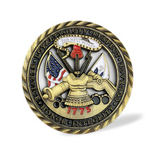 Free delivery US Army Core Values Gold Plated Commemorative Challenge Coin Collection Art Gift Drop ship