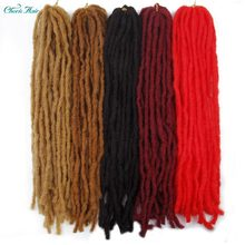 Synthetic Dread locks Soft Hair Black Red Brown Golden Kanekalon Hair Twist Braids Crochet Braiding Hair Extension Hair Pieces(China)