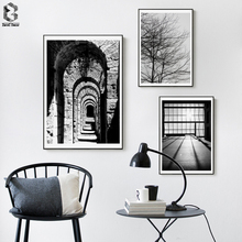Monochrome Canvas Art Posters and Prints Vintage Wall Art Paintings Picture Nordic Decorative for Living Room Home Decor