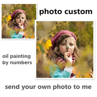 Photo Custom DIY Digital Canvas Oil Painting Frameless Picture Painting By Numbers Home Decoration Wall Art