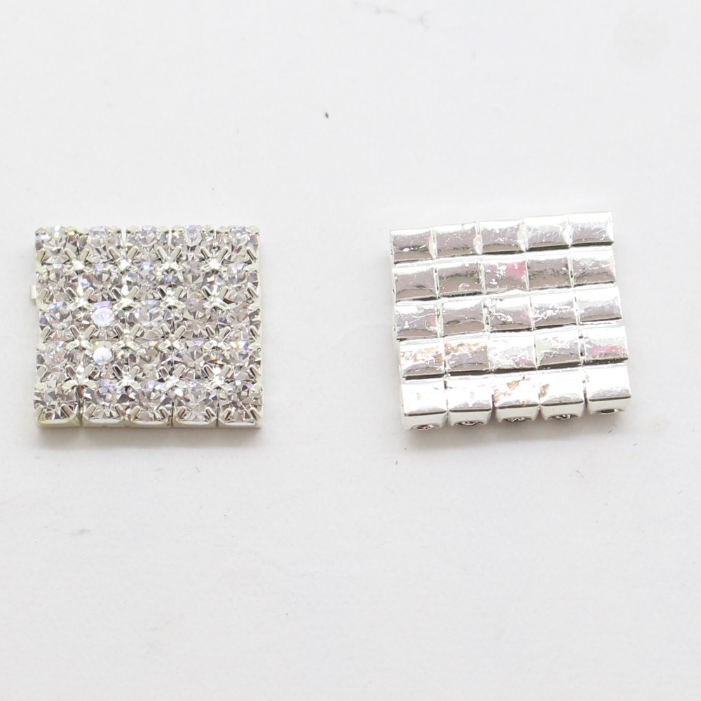 New Arrival 10pcs/lot 14*14mm Rhinestone Buckles Diamond Square ...