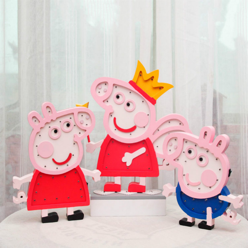 Piggy Piggy Series Cartoon Piggy Peige Georgia Decoración de pared - Iluminación de vacaciones - foto 3