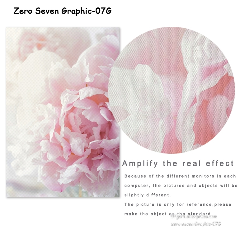 HTB1JYV0J4naK1RjSZFBq6AW7VXa7 Canvas Painting Nordic Decor Elegant Peony Flower Phrase Poster And Print Wall Art Picture For Living Room Home Decoration