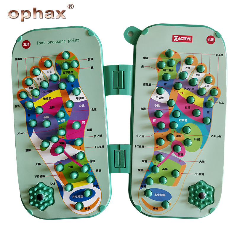 OPHAX Acupressure Foot Massage Healthy Stepping Board of Foot Reflexology Self Treatment leg pain fatigue relief products new synthia andrews acupressure and reflexology for dummies