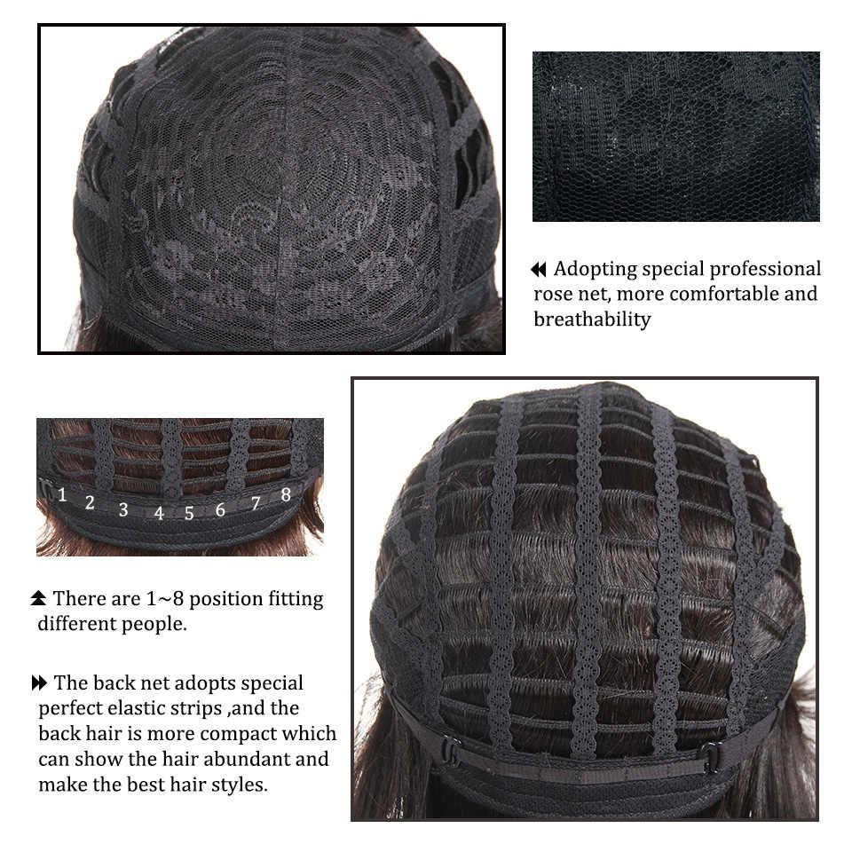 Rebecca Grosir Murah Rambut Lurus Wig Pendek Mesin Brazilian Rambut Manusia Wig untuk WANITA HITAM Warna Pirang LXMD4/30/27