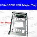 100% Original y Nuevo 2.5 a 3.5 Disco Duro de transferencia soporte hot swap soporte de disco duro para hp/all mac PRO