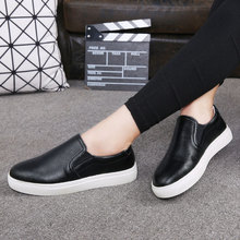 WOLF WHO Women Leather Loafers Slipon Slipony Women Shoes Female Loafers Light Casual Krasovki Boty Obuv Footwear h-048