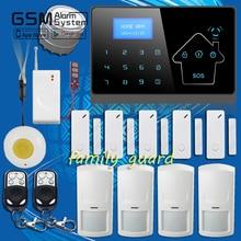 Семья гвардии 100 беспроводной датчик утечки воды тревожная кнопка GSM PSTN SMS голос домашней безопасности дом сигнализация