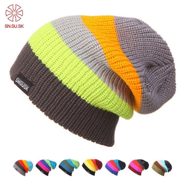 60fc60d08cf SK Skiing Warm Winter Hats Men Women Turtleneck Beanies SKi Hat Knitting