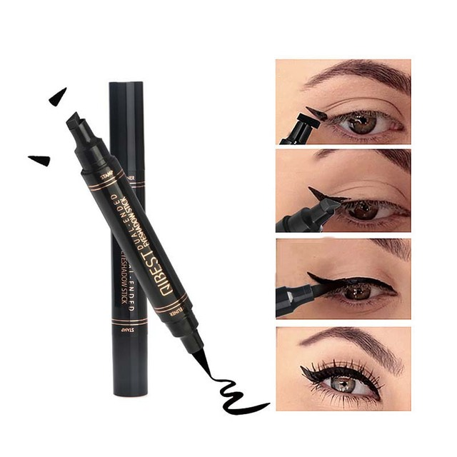 1Pc Liquid Eyeliner Stamp Pen Matte Black Colorful Lazy Eyes Make Up Waterproof Quick Dry Blue Green Red Yellow Eye Liner Pencil 1