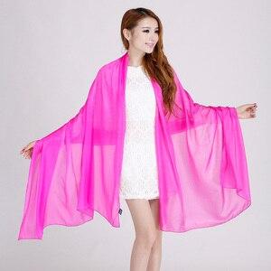 Image 2 - Bayanlar marka gri dut ipek eşarp şal 180*110cm büyük boy tasarım kadın eşarp sarar yaz güneşlik şal haki siyah