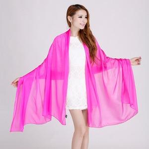 Image 2 - Ladies Brand Grey Mulberry Silk Scarf Shawl 180*110cm Oversize Design Female Scarves Wraps Summer Sunshade Shawls Khaki Black