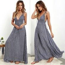 2018 New Women Summer Boho Long Maxi Dress Evening Party Beach Dresses