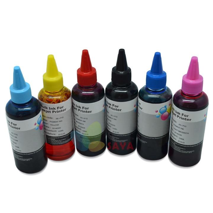 600ml T0801 DYE INK For Epson Stylus Photo P50 R265 R285 R360 RX560 RX585 PX650 RX685 PX700W PX710W PX800FW PX810W Printers картридж с чернилами karina g 6pk epson t0801 t0806 epson for t0801 t0806
