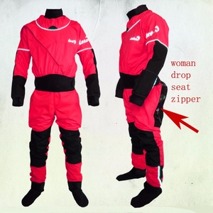 Image 1 - 2018 lenfun front enter WOMAN kayak dry suits WITH DROPSEAT zipper,canoeing,paddle suit,sailing ,Sea Kayak,Flatwater,Rafting