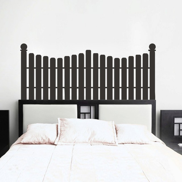 Picket Fence Headboard Wall Decal Four Size Bed Vinyl Decals