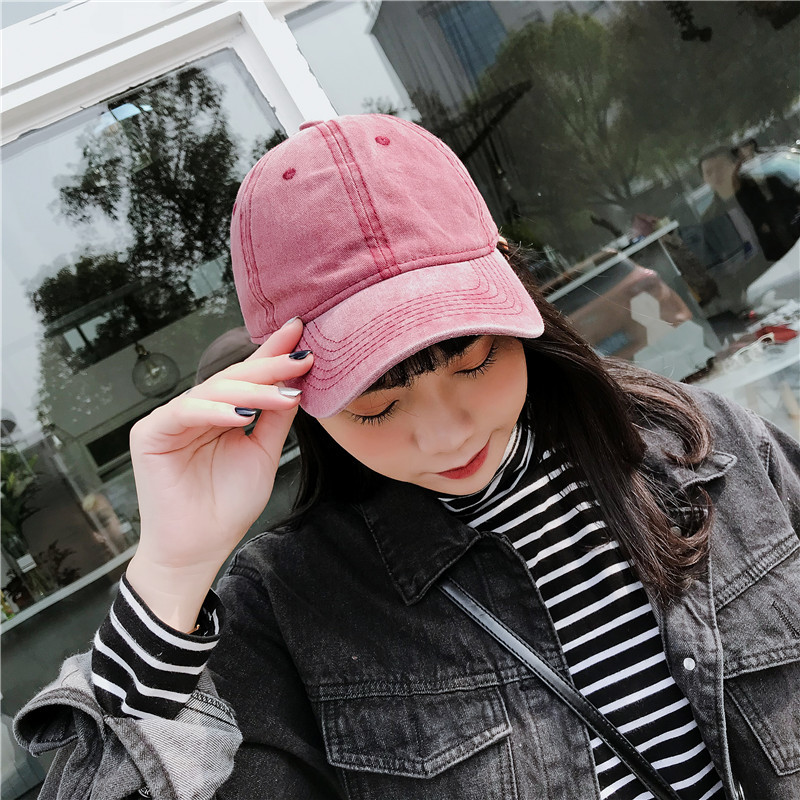 Baseball Cap Frayed Washed Style baseball cap flat hat outdoor sports cap sun protection solid color(China)