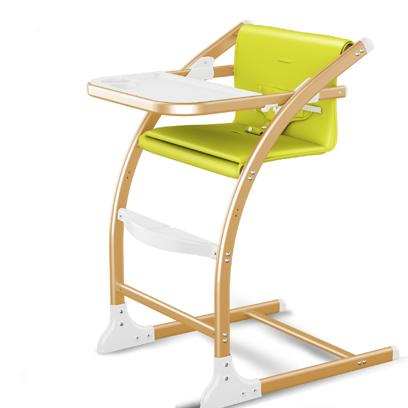 4 In 1 Baby Feed Chair, Fashion Baby Dining Chair With Adjust Seat Height, Can Change To Baby Rocking Chair, Stable Highchair